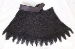 colletin mailles acier noir