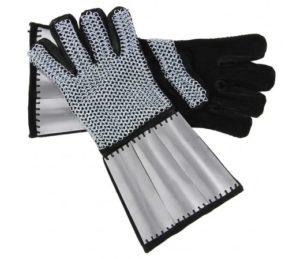 gants en maille et cuir