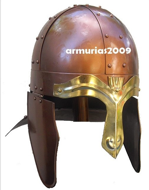 casque viking nasal cuivre
