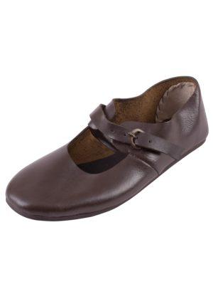 Chaussures basses médiévales cuir