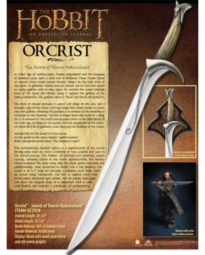 Epee Orcrist Thorin Officielle UC2928