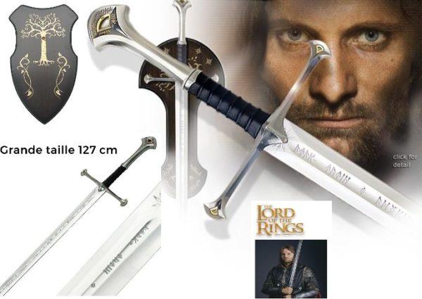 Anduril Epée Aragorn plaque
