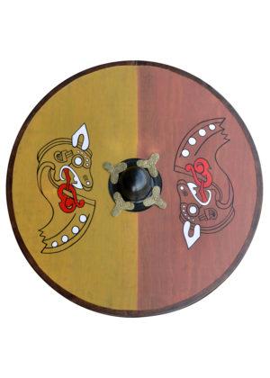 Bouclier viking motif cheval