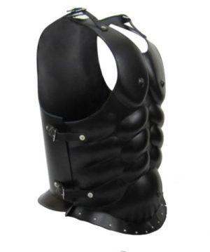 Cuirasse musclée cuir noire