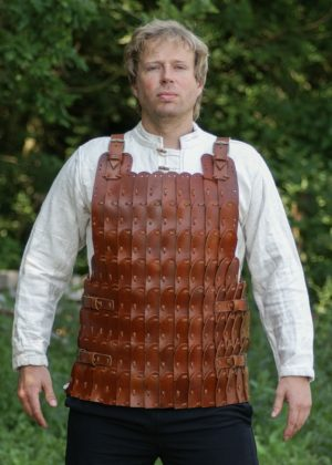 Armure cuirasse lamellaire cuir