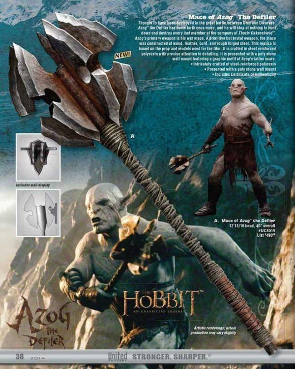 Le Hobbit - Masse d'Azog le profanateur Officielle United Cutlery UC3015