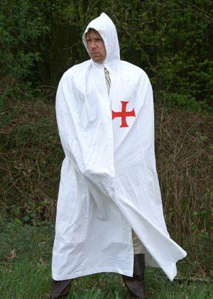 Manteau de templier blanc