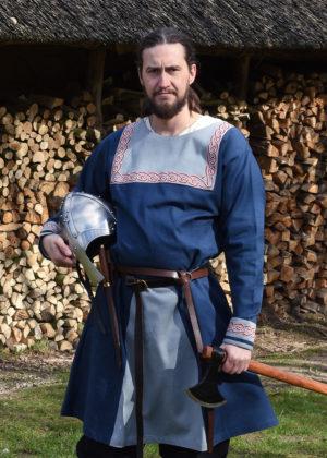 Tunique Viking Halvar bleuee