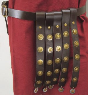 ceinture militaire marron
