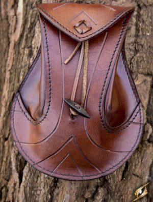 sac elfique en cuir