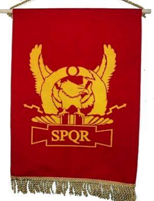 drapeau romain SPQR