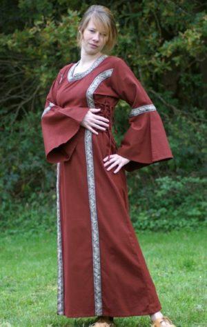 robe médiévale Martha rouge